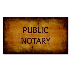 Public Notary Antique Brushed Wood Business Card Zazzle