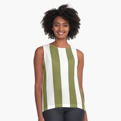 'Summer stripes part 3 Sleeveless Top by condemarin Summer Stripes, Scarf Dress, Cute Tshirts, Summer Tops, Shirt Shop, Color Patterns, Athletic Tank Tops, Chiffon, T Shirts For Women