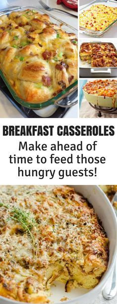 Make Ahead Breakfast Casseroles to Feed a Crowd - these delicious recipes are just what you need for breakfast or brunch when you have guests staying for the Holidays! #christmas #food #breakfast