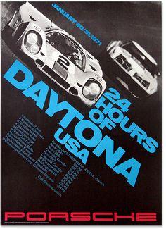 24 Hours of Daytona (1971) :: Porsche Poster