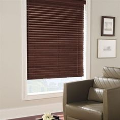 """February Sale: 20% Off all Levolor Blinds & Shades. Pictured- Levolor 2"""" Premium Wood Blinds"""