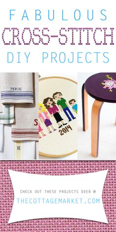 Fabulous Cross-Stitch DIY Projects - The Cottage Market #Cross-Stitch, #Cross-StitchDIYProjects, #Cross-StitchDIY