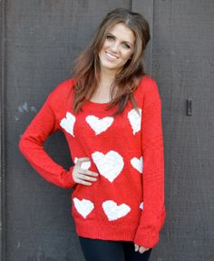 how cute is this heart sweater