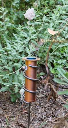 Kirb Appeal: Copper rain gauge from UncommonGoods!