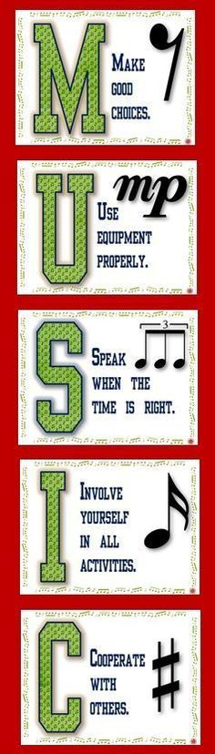 Rules for the music classroom. ♫ CLICK through to preview or save for later! ♫