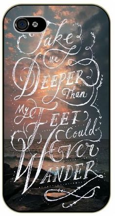 Take me deeper than my feet could ever wander - Sea and clouds - Bible verse iPhone 5 / 5s black plastic case / Christian Verses Surelock Ideas TM http://www.amazon.com/dp/B00JNHB0IM/ref=cm_sw_r_pi_dp_sYdwub0T16M4Y
