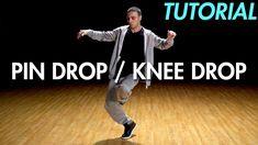 How to Pin Drop / Knee Drop (Hip Hop Dance Moves Tutorial: Breakdance) Dance Hip Hop, Tap Dance, Lets Dance, Dance Music, Jason Derulo, Liam Payne, Nicki Minaj, Happy Feet Dance, Cool Dance Moves