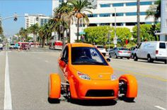 Elio Motors 3-wheel personal vehical. 84 MPG Baybee! $6,800, as far as I know!