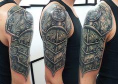 Image result for shoulder armor tattoo