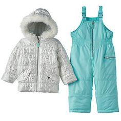 Toddler Girl Carter's Fairisle Puffer Jacket & Bib Snow Pants Set