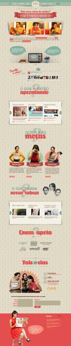 Unique Web Design, Negocio De Mulher #WebDesign #Design (http://www.pinterest.com/aldenchong/)