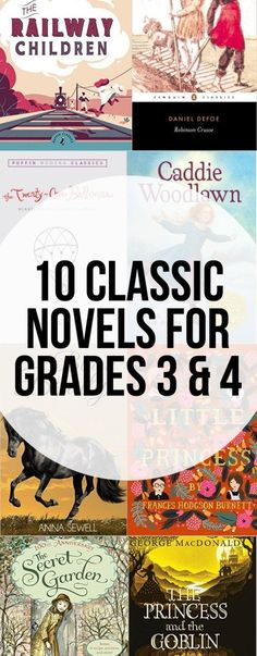 Classic books to read aloud with grade 3 and 4. They are truly classic novels the whole family will love.