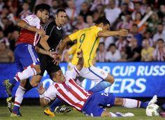 Brasil sofreu para empatar em 2 a 2 com o Paraguai (foto: EPA)