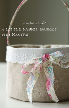 Handmade Linen basket tutorial from Nana Company