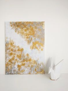 Silver And Gold Wall Art original artwork - acrylic on canvas, abstract art, silver, gold