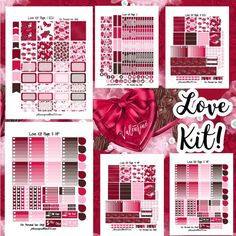 Love Kit! | Free Printable Planner Stickers Valentine