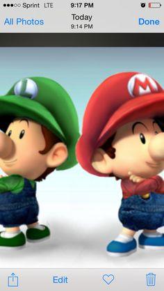 Baby Luigi and Mario