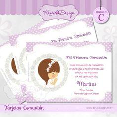 Recordatorio de Comunión disponible en www.kireidesign.com