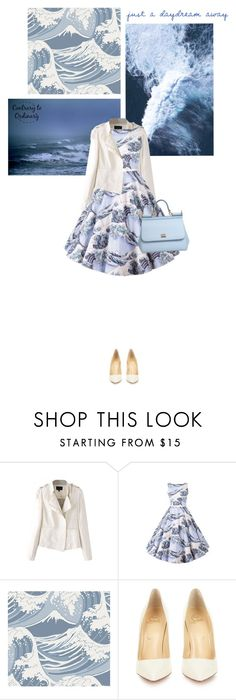 """""""Untitled #1523"""" by contrary-to-ordinary ❤ liked on Polyvore featuring Cole & Son, Christian Louboutin, Dolce&Gabbana, women's clothing, women, female, woman, misses, juniors and beautifulhalo"""
