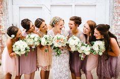 blush + lavender bridesmaid dresses | Rebecca Read