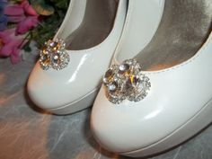 Shoe Clips Vintage Style Clear Rhinestone Shoe by ShoeClipsOnly, $34.00
