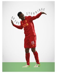 Daniel Sturridge Liverpool FC Football Print by MarkMcKenny, £10.50