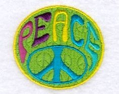 Groovy Peace Sign - 4x4 | Words and Phrases | Machine Embroidery Designs | SWAKembroidery.com Starbird Stock Designs