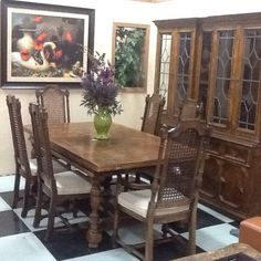 Charming 8 Pc Vintage Dining Set $1,500 UniQ New And Use Furniture 207 S K ST Tulare  CA