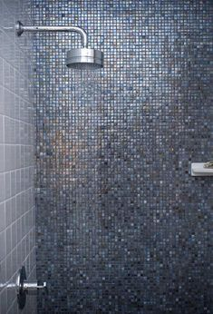 Home Design. Brilliant Concept And Contemporary Tile With Glass Oceanside. Concept Brilliant Oceanside Glass Tile For Wall Bathroom Ideas With Blue Shining Oceanside Glass Mosaic Wall Bathroom With Single Lever Handle Modern Head Shower Decoration Inspiration, Bathroom Inspiration, Decor Ideas, Mosaic Glass, Mosaic Tiles, Glass Tiles, Blue Mosaic, Mosaic Wall, Modern Bathroom