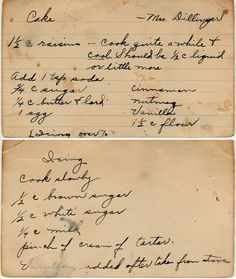 yesterdish.com » Raisin Spice Cake  :: Family Recipes :: preserving recipes :: In the Kitchen :: Good Ole Days :: from the heart :: old fashion cookery