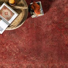 Find hints of #marsala in this overdyed Mykonos rug from Surya! (MYK-5005).
