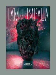 Tame Impala / The Growl. Poster design: Paloma Chavez (2013).