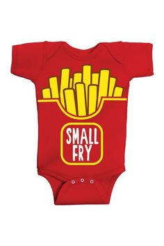 David & Goliath Kids Small Fry Bodysuit. For whenever Andrew's friend Frye has a kid.