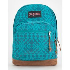 Jansport Right Pack Expressions Backpack ($32) ❤ liked on Polyvore featuring bags, backpacks, jansport daypack, laptop bags, jansport bags, blue backpack and blue bag