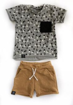 a43678936336b Handmade hipster baby boy and toddler T-shirt,triangle print, baby shower  gift