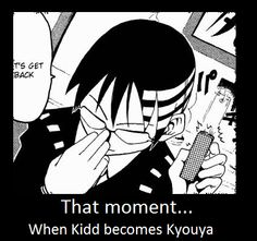 Death the Kid (Soul Eater) + Kyouya (OHSHC) equals THIS?! ......Dayum. .__.