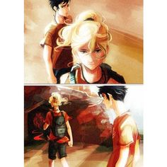 Percy and Annabeth! Percy Jackson ❤ liked on Polyvore featuring percy jackson, random pictures and rick riordan