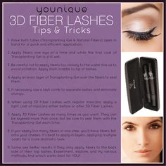 3D Fiber lashes. Helpful tips! https://www.youniqueproducts.com/batyoureyelashes/party/516298/view?autoplay=1#mediaDisplay