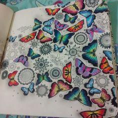 Butterflies Double Page Jardim Secreto Borboletas Pgina Dupla Johanna Basford Adult ColoringColoring BooksColouringSecret GardensJoanna