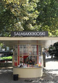 A kiosk in Helsinki that sells salted licorice.