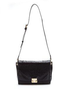Foley & Corinna Laser Leopard Shoulder Bag