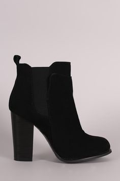 a02847015b1b Map Adjust. Black Heeled Ankle BootsChunky ...