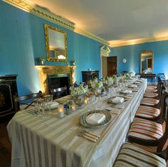 Kensington Palace Apt 1-A The Dining Room, in a photo believed to be taken for a function after Princess Margaret's occupation. Photo via Royal Dish blog.