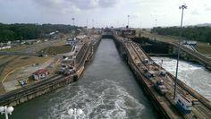 Going through Panama Canal