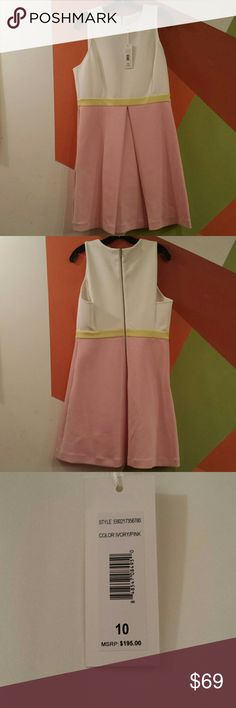 Erin Fetherston Colorblock Callie Crepe Dress Sz10 95% polyester 5% spandex Sleeveless No Pockets Dry clean only ERIN by Erin Fetherston Dresses