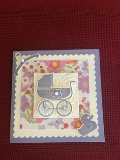 Used wisteria wonder ink ( stamping up ) and the Something for baby stamp set.