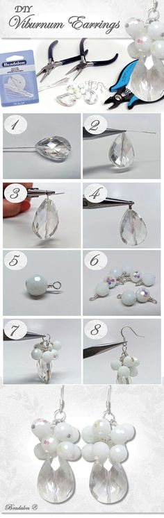 Nice....DIY Earrings - easy wire wrapping using a few sparkly beads to create instant pizzazz. Available in @michaelsstores