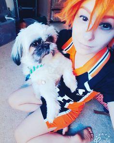 Still talking pictures with the pup. . . . . #hinata #hinatashouyou #haikyuu #haikyuucosplay #hinatacosplay #anime #animelover #animecosplay #manga #makeup #otaku #cosplayer #cosplaying #cosplay #kawaiiboy #kawaii #fun #animal #cutie #naruto #follow #selfie #me