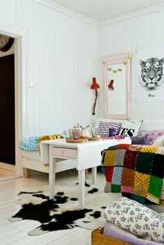 uniquely styled and decorated room