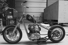 XS 650 hard tail. Bare bones with a jockey shift. Perfect. Nice, but it's not a Harley Davidson . . .